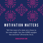motivation matters most
