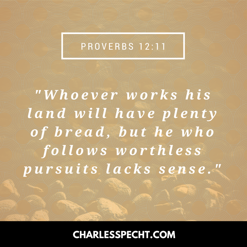 quote card Proverbs 12_11